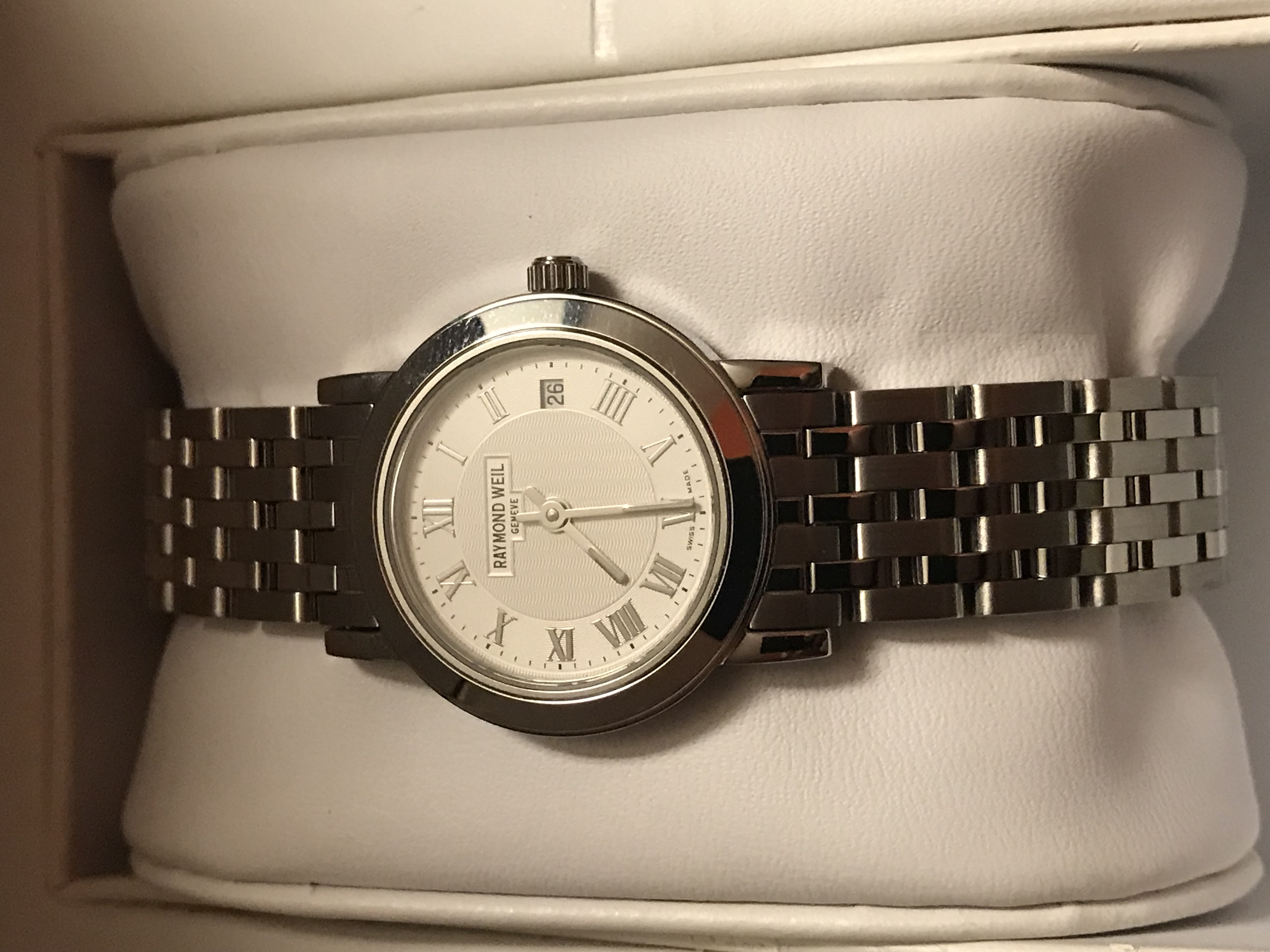 Raymond Weil Ladies Watch , New. Stainless Steel