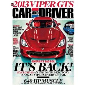 Car & Driver Magazine Three Year Subscription
