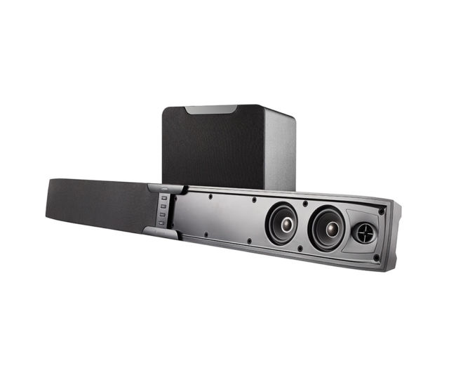 "Episode ES-SNDBR-2.1-BLK 2.1 Active Soundbar System with 8"" Wireless Subwoofer"