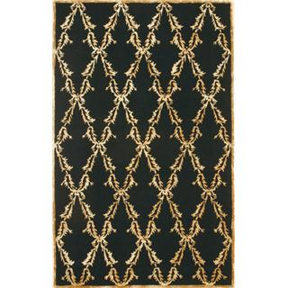 New Area Rug Global Accents 8x11 Wool & Silk - Trellis design