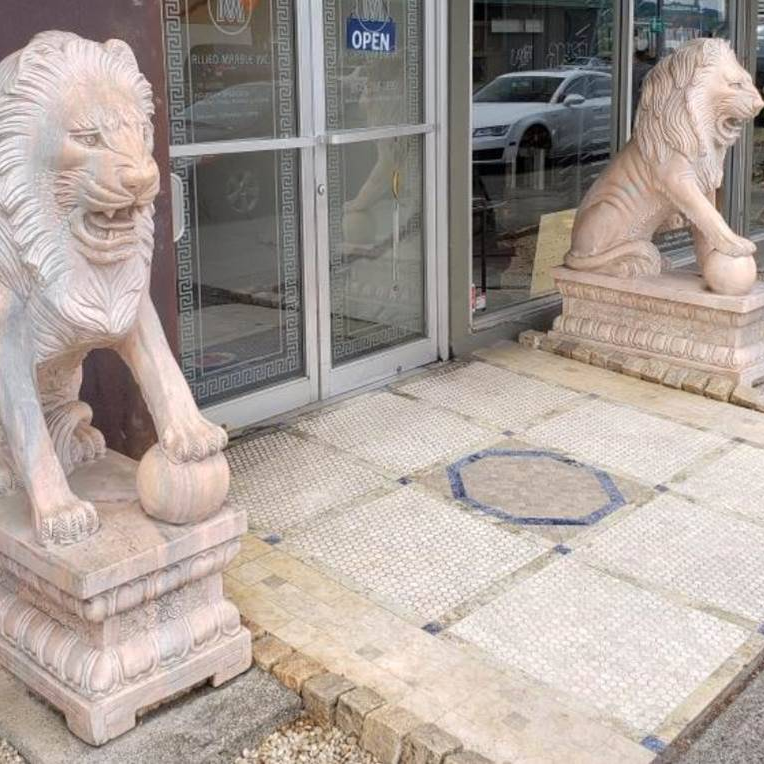 Solid Marble Lions