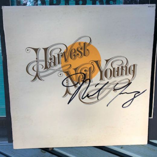 Framed Neil Young autographed album! Rare