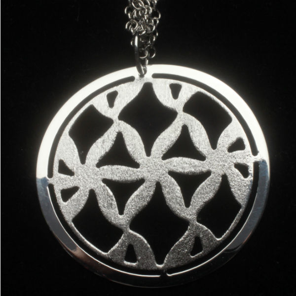 """Winter Trellis"" Sterling Silver Necklace"