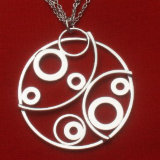 """Circle of Love"" Sterling Silver Necklace"