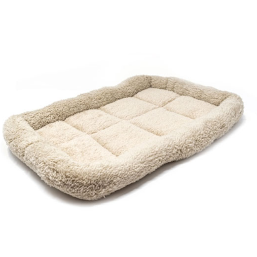 ALEKO® PCM01 EXTRA SMALL SOFT PLUSH BEIGE COMFY PET BED CUSHION MAT