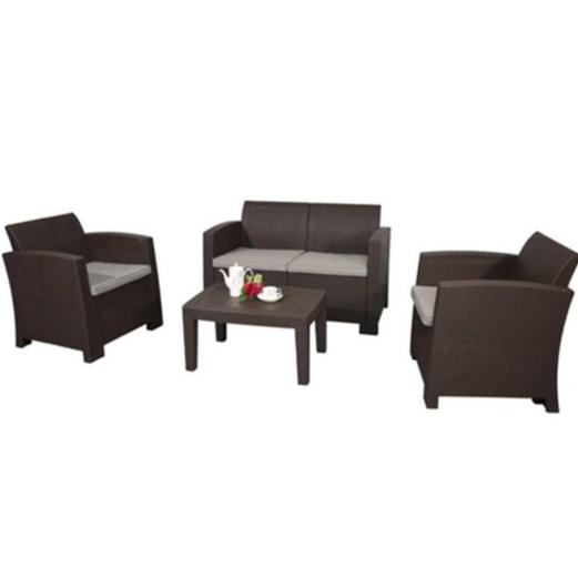ALEKO® RTFS7502 LINOSA SET RATTAN WICKER FURNITURE 4-PIECE INDOOR OUTDOOR COFFEE TABLE SET