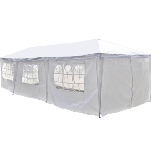 ALEKO® 30 X 10 FEET TENT FOR OUTDOOR PICNIC PARTY OR STORAGE - WHITE