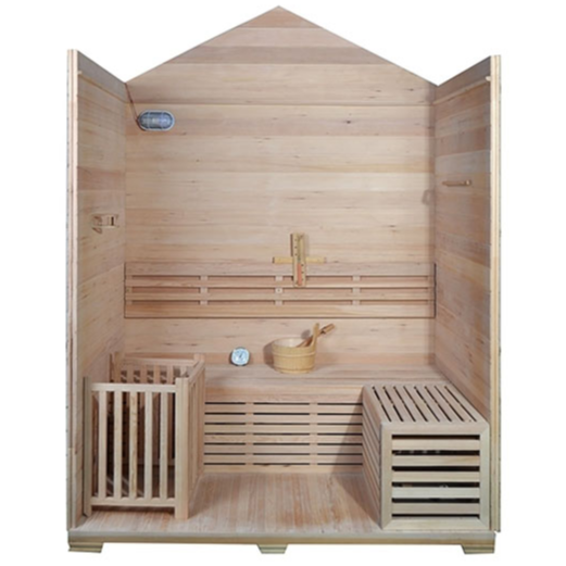 ALEKO® CANADIAN RED CEDAR INDOOR WET DRY SAUNA - 3 KW ETL CERTIFIED HEATER - 3 PERSON