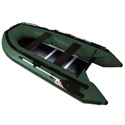 ALEKO® INFLATABLE FISHING BOAT WITH WOOD FLOOR - 10.5 FEET
