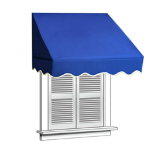 ALEKO® 8X10 FT Window Awning - Blue