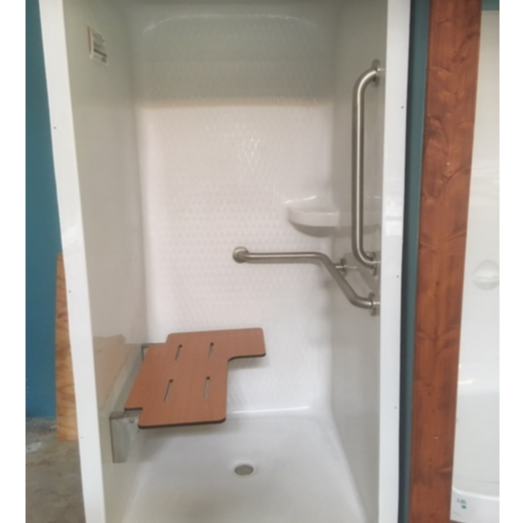 AquaGlass Shower Enclosure with Fold Down Seat