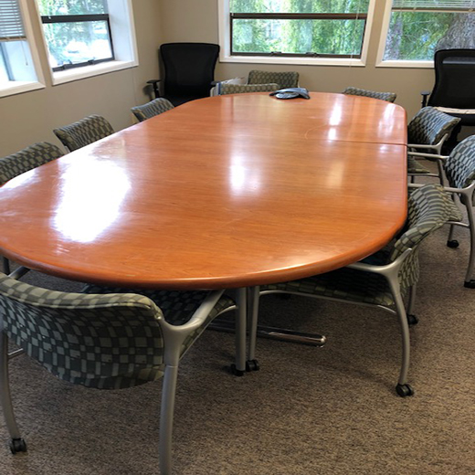 Cherry Wood Conference Table & Chairs