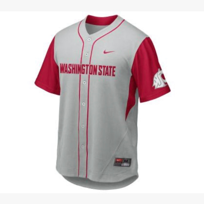 NWT WSU Cougars Nike Youth Baseball Jersey Size Medium