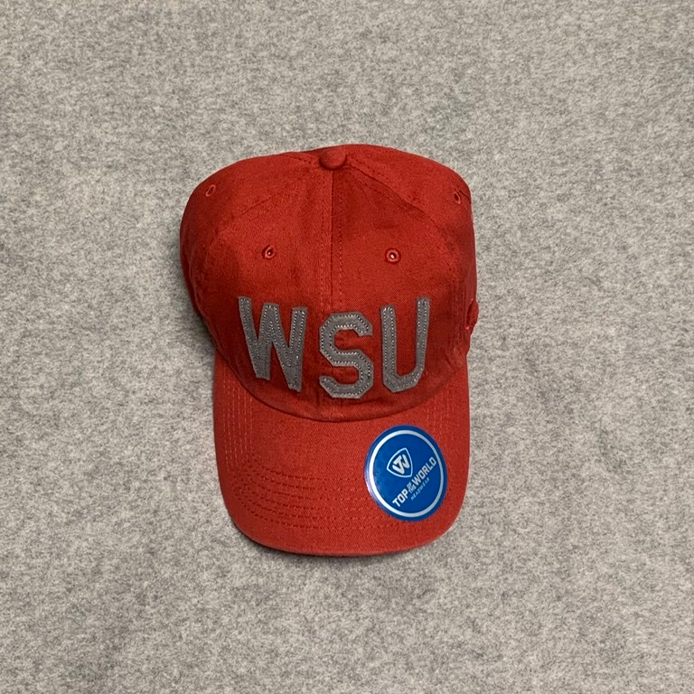 Washington State University - Top Of The World Cougars Crimson Adjustable Ball Cap