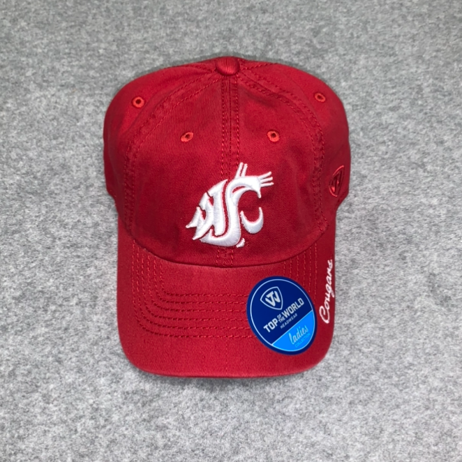 Washington State University - Top Of The World Cougars Crimson Women's Adjustable Ball Cap