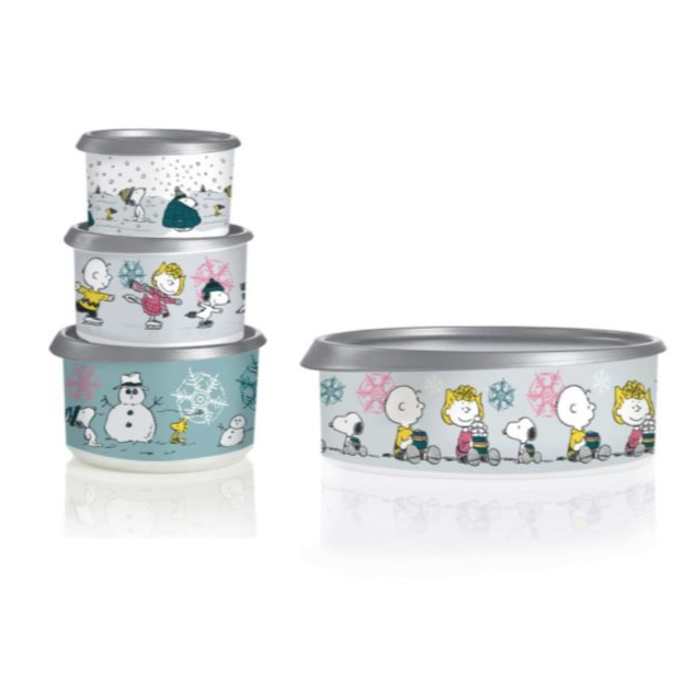 Peanuts Holiday Canister Set of 4