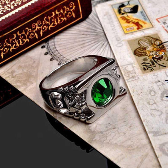 Green Lantern Ring – Stainless Steel Handmade Ring