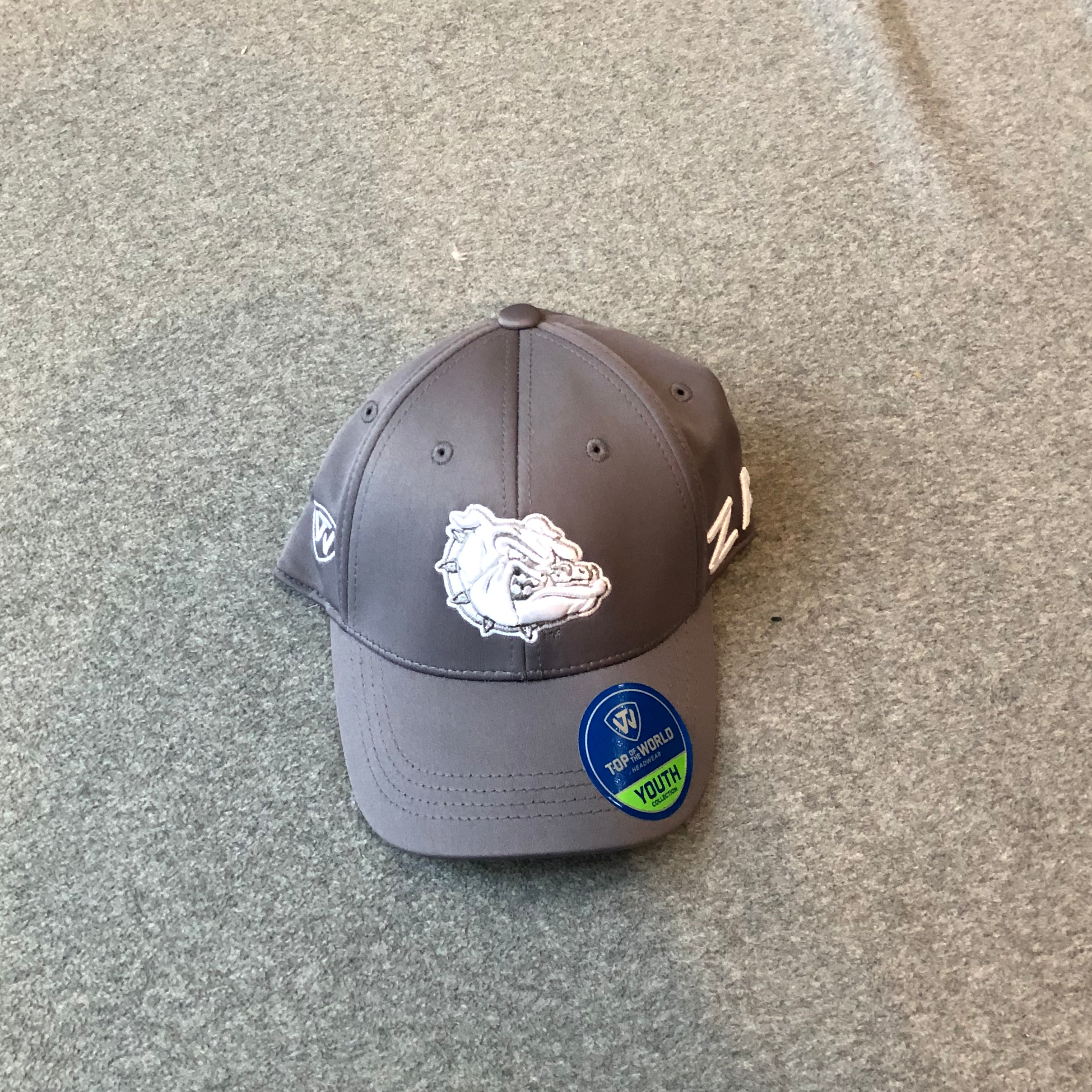 NWT Top of the World One Size Grey Youth Gonzaga Hat