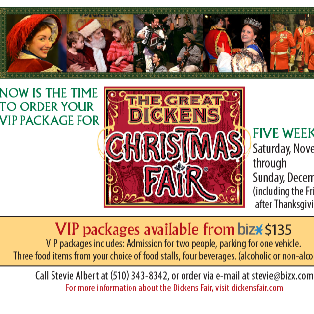 Holiday Dickens Fair VIP Package