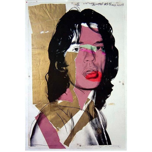 Offset Lithograph - Mick Jagger 1975, 1975 by Andy Warhol