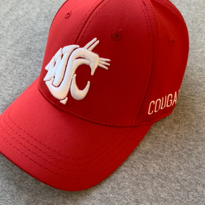 Washington State University - Memory Foam Fit Top Of The World Cougars Crimson Hat