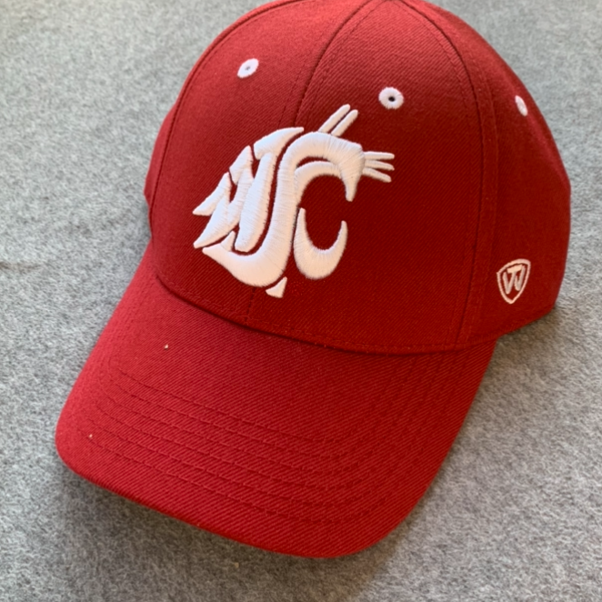 Washington State University - Fitted Top Of The World Cougars Crimson Memory Foam Hat