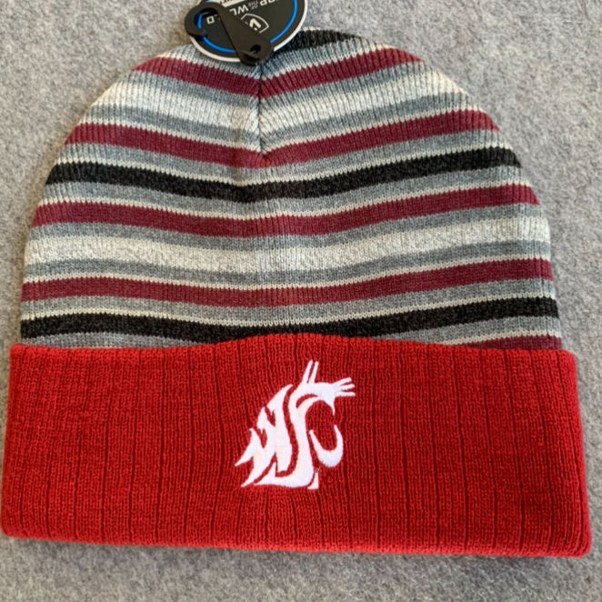 Washington State University - Top Of The World Striped Cougars Beanie