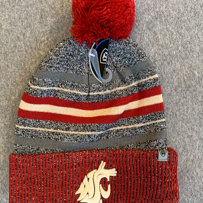 Washington State University - Top Of The World Grey Knit Beanie