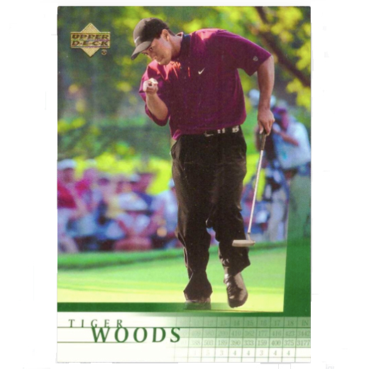 Tiger Woods Rookie Card - 2001 Upper Deck