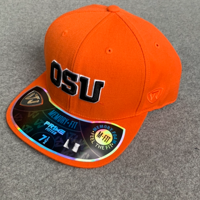 Oregon State University Fitted Memory Foam Ball Cap - Orange With Black