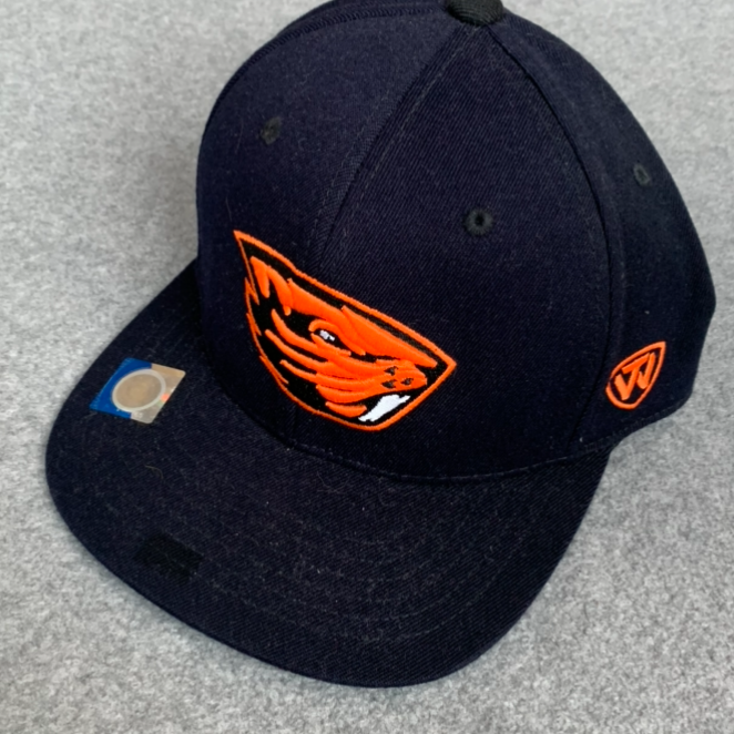 Oregon State University Ball Cap - Black With Orange