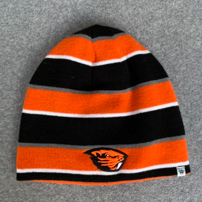 Oregon State University Reversible Beanie Hat - Orange & Black