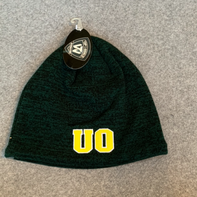 University of Oregon Beanie Hat - Dark Green With Yellow