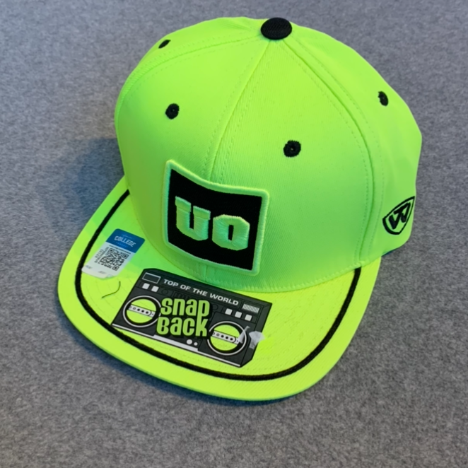 University of Oregon 'UO' Ball Cap - Neon Yellow