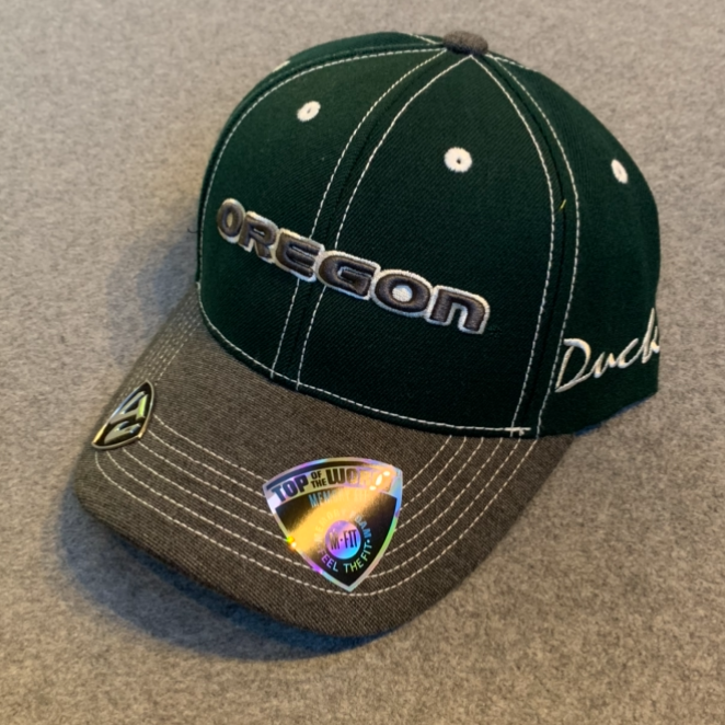 Oregon Ducks Ball Cap - Green & Dark Grey, Adjustable