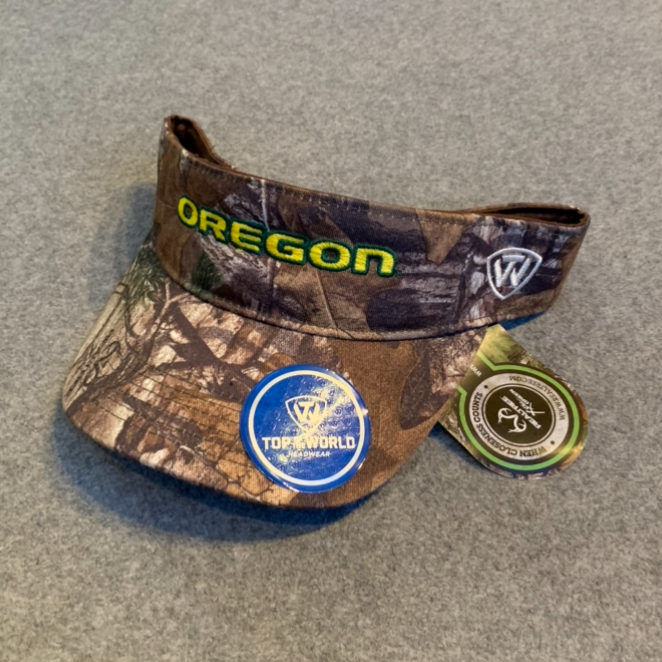 University of Oregon Visor Cap - Camouflage, Adjustable