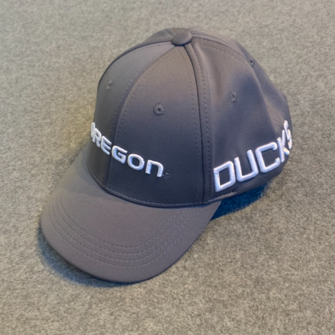 Youth Oregon Ducks Ball Cap - Grey, Adjustable