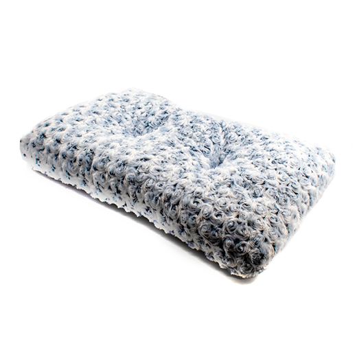 ULTRA-SOFT SHAGGY CUSHIONED PET BED MAT - 23 X 13 INCHES - GRAY