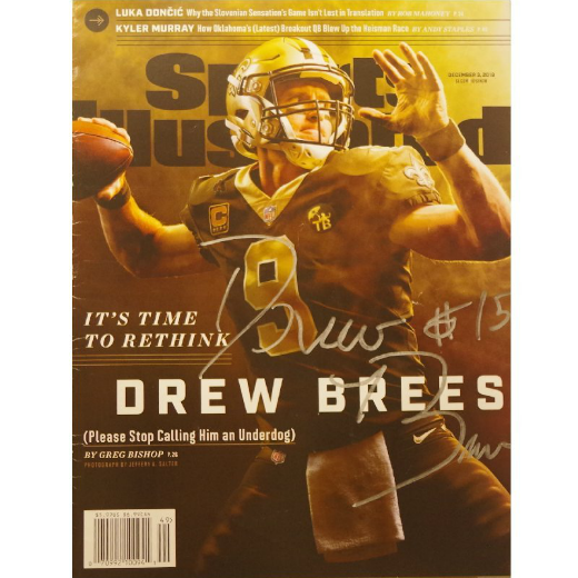 Drew Brees - Signed Sports Illustrated Cover