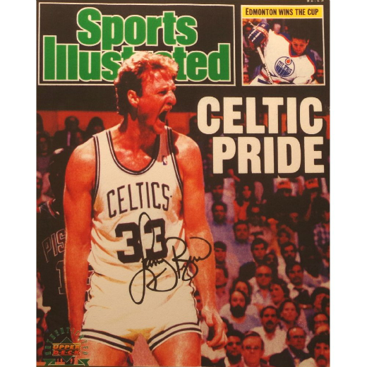 Larry Bird - Signed Sports Illustrated Cover