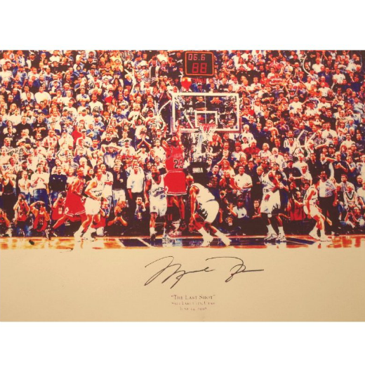 Michael Jordan Signed NBA Title Game Winning Shot