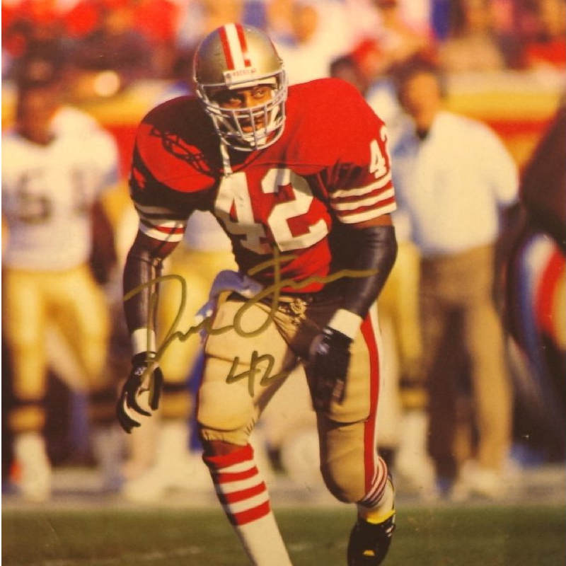 Ronnie Lott Fa Signed Picture