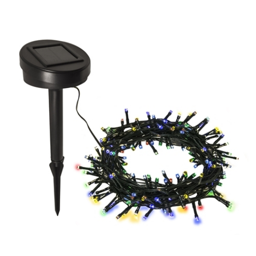 SOLAR POWERED STRING LIGHTS - 100 LED - MULTICOLORED