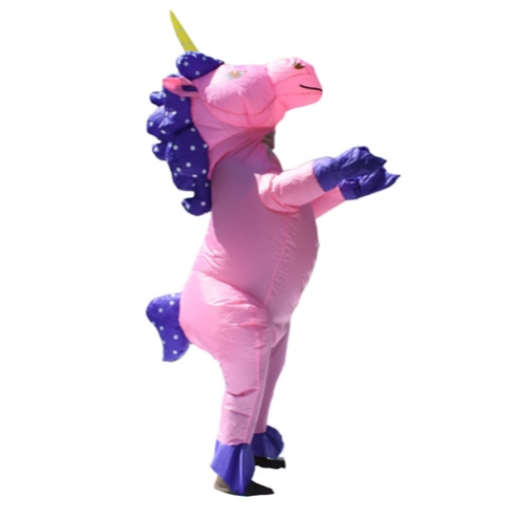 HALLOWEEN INFLATABLE PARTY COSTUME - PRETTY PINK UNICORN - ADULT SIZED