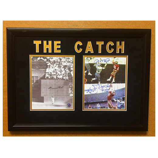 """ The Catch "" - Willie Mays, Joe Montana & Dwight Clark"