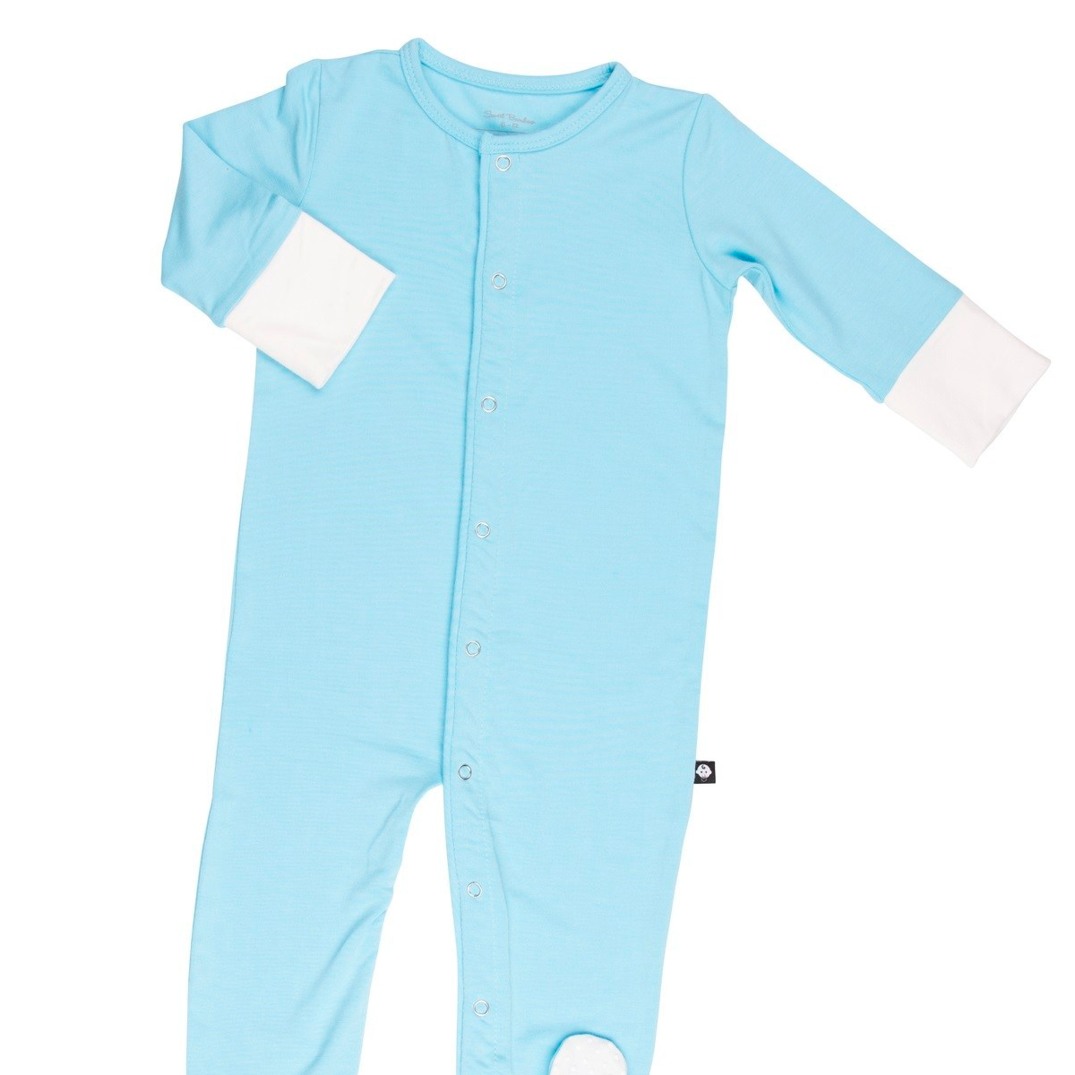 Piped Romper - Blue