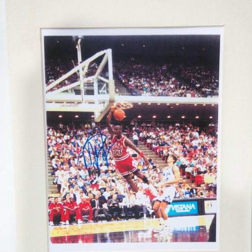 Michael Jordan Facsimile Autographed Photo