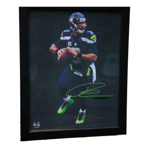 Russell Wilson Framed Facsimile Autograph