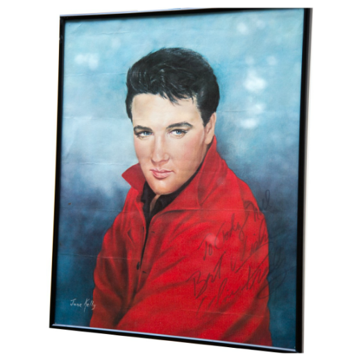 Autographed Elvis Presley Fan Club Drawing