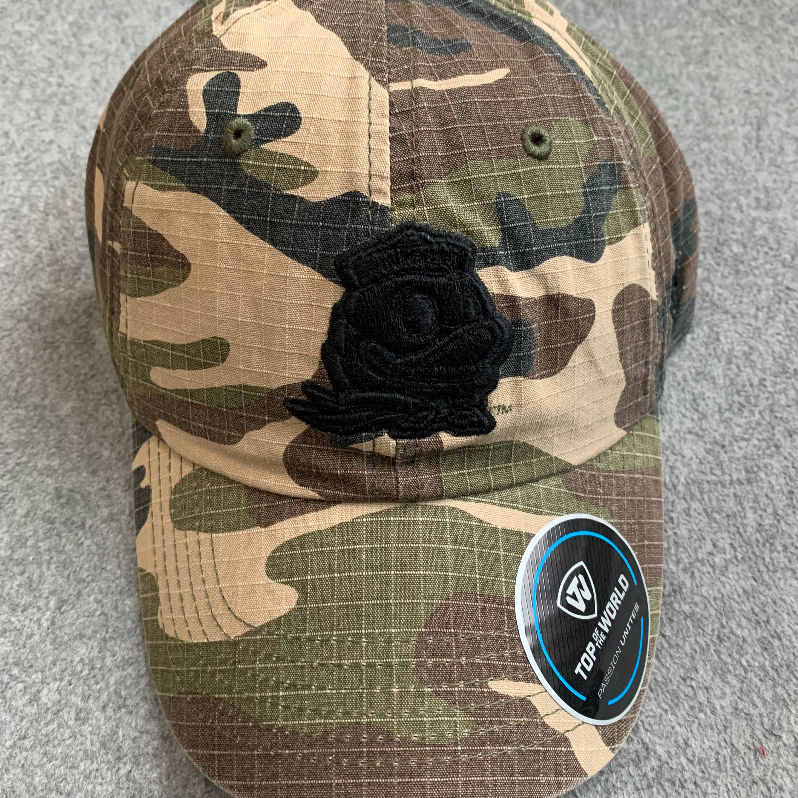 Oregon Ducks Logo Ball Cap - Camouflage & Black, Adjustable